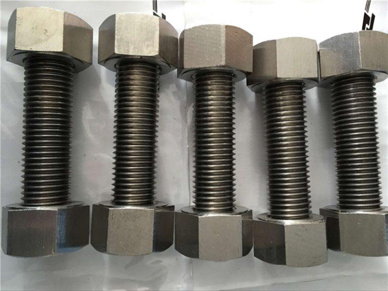 nikljeve zlitine 400 en2.4360 polno navojna palica s pritrdilnimi maticami