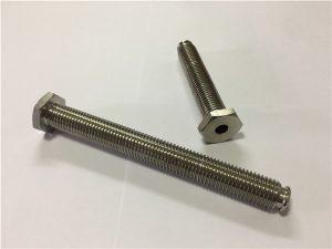 No.64-votlo titanijevo pritrdilno sredstvo z odprtino iz titanove zlitine 6Al4V jedilna glava, ključ