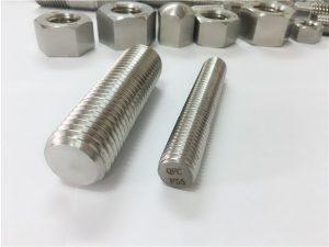 Št.81-F55 pritrdilni elementi iz nerjavečega jekla Zeron100 polni navojni drog S32760