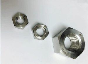 Duplex 2205 / F55 / 1.4501 / S32760 pritrdilni elementi iz nerjavečega jekla težka šestkotna matica M20