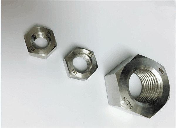 duplex 2205 / f55 / 1.4501 / s32760 pritrdilni elementi iz nerjavečega jekla težka šesterokotna matica m20